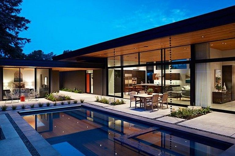 22 Awesome Latest Minimalist Home Design That Will Not Be Eaten In The End Times Homedesign Homedecoride Architecture Eichler Homes Mid Century Modern House