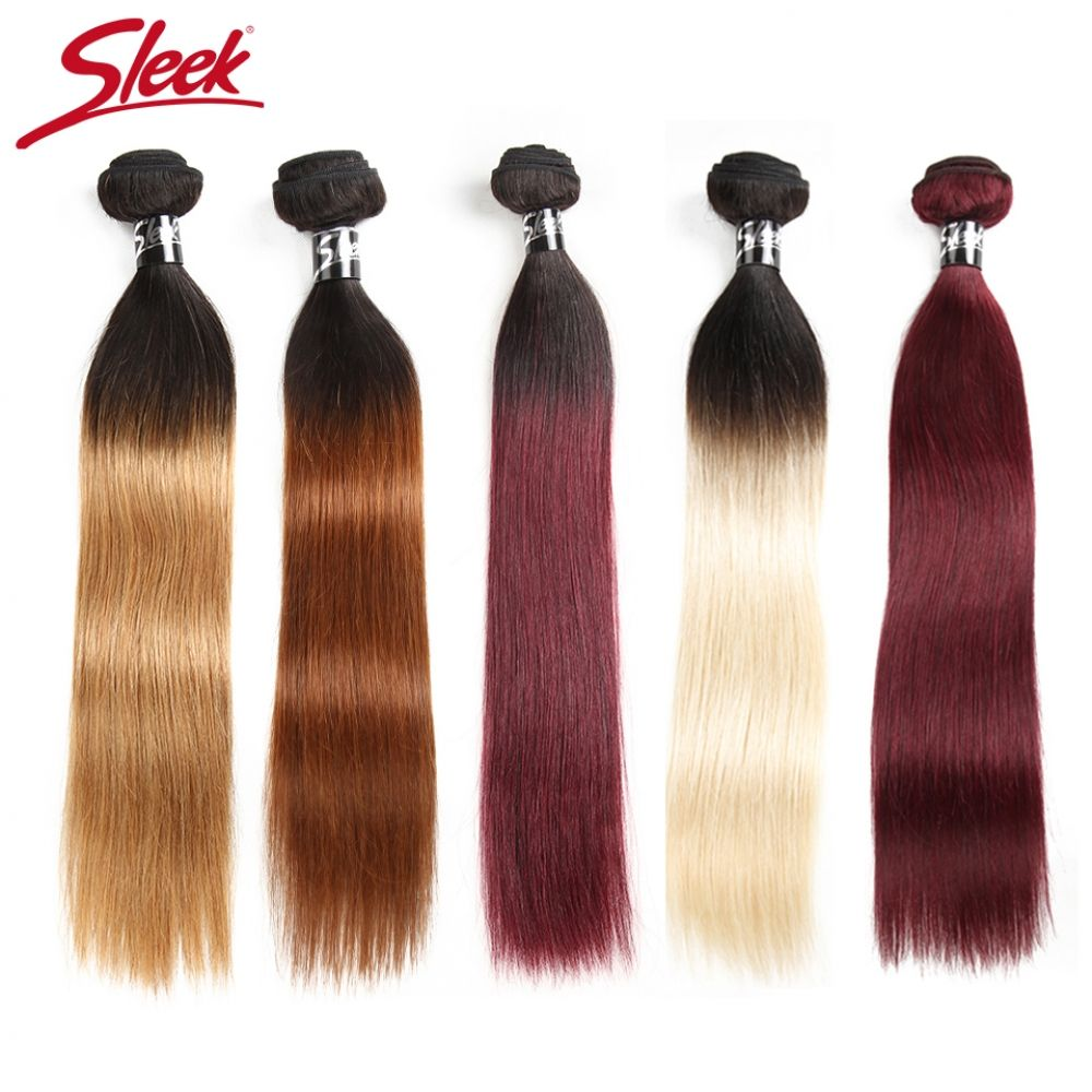 Sleek Ombre Brazilian Hair Straight 1B/30 1B/27 1B/99J