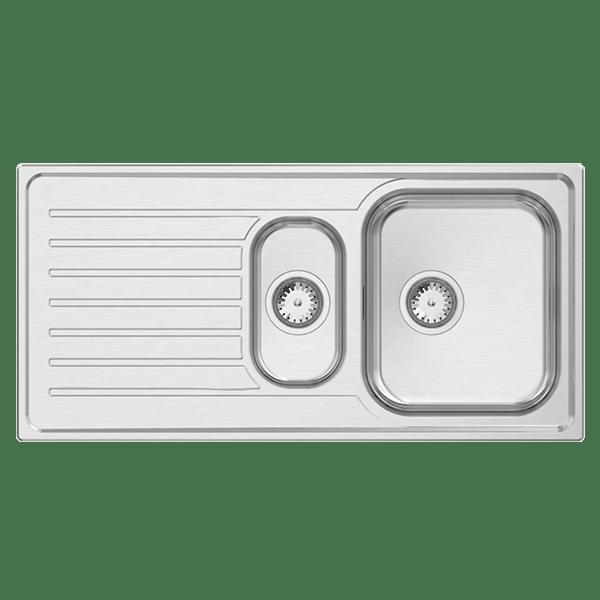 eua125leua125r abey euronox 1 14 bowl kitchen abeyaustralia - Abey Kitchen Sinks