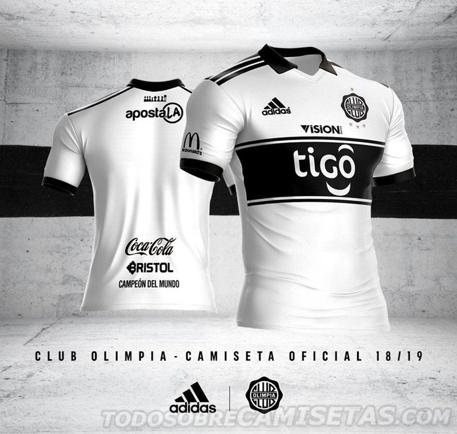 2a1ac60c76bb4 Camiseta adidas de Club Olimpia 2018-19