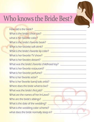 10 Fun Bridal Shower Game Ideas Fun games Dr who and Brides