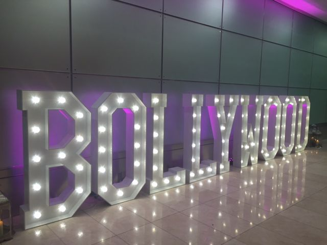 Bollywood Light Up Letters At East Wintergardens Mighty