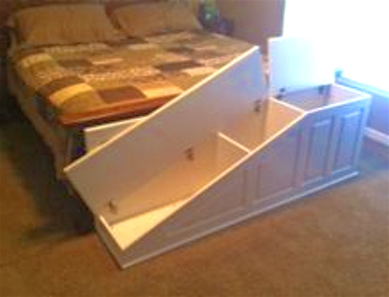 Dog Ramp For Bed Diy Gorgeous See Dog Ramp For Bed Dog Ramp Dog Steps For Bed