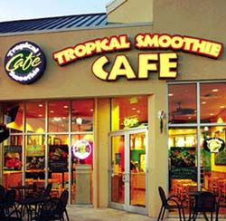 Tropical Smoothie Cafe In A Few Min I Will Be Enjoying The Fab Fish Taco Tropical Smoothie Cafe Peanut Butter Banana Tropical Smoothie