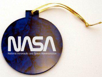Amazon.com: Nasa Worm Logo Laser Engraved Christmas ...