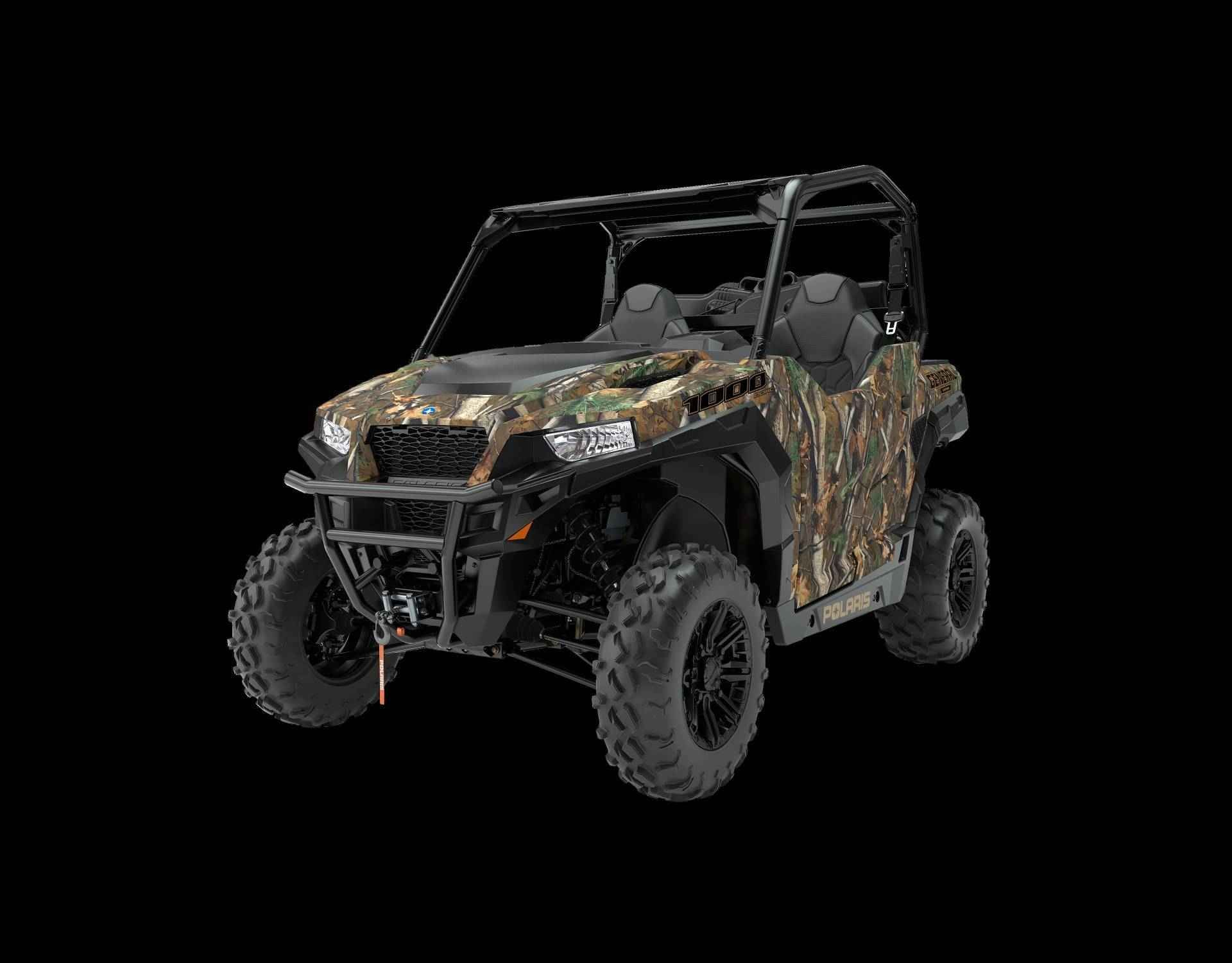 New 2017 Polaris General™ 1000 EPS ATVs For Sale in Mississippi. Hunter Edition Polaris Pursuit®Camo Class-Best 100 HP to light up the trail and broad, usable torque band to work All-new cabin with sporty bucket seats and easy in and out cab access Class-Leading Suspension, ground clearance for the trail and to-do list