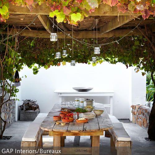 Dinner im Freien Genießen, Romantisch und Frühstück - beispiel mehrstufige holzterrasse