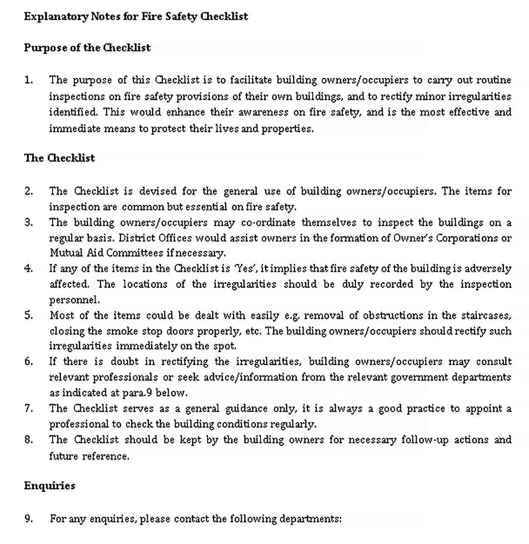 Safety Checklist Templates in 2020 Safety checklist