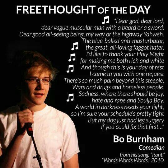 Bo burnham atheist