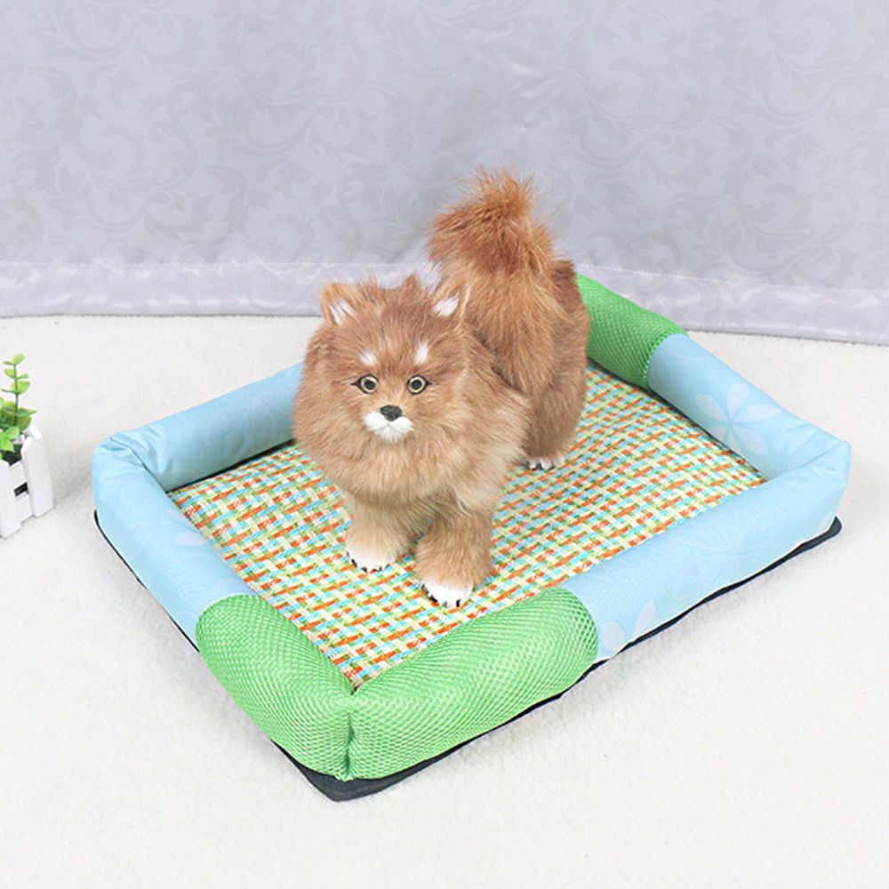 Washable Pet Dog Cat Bed Puppy Cushion Summer Cool Kennel