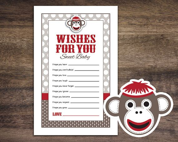 Instant Download Sock Monkey Baby Shower Games by Studio20Designs, $1.50