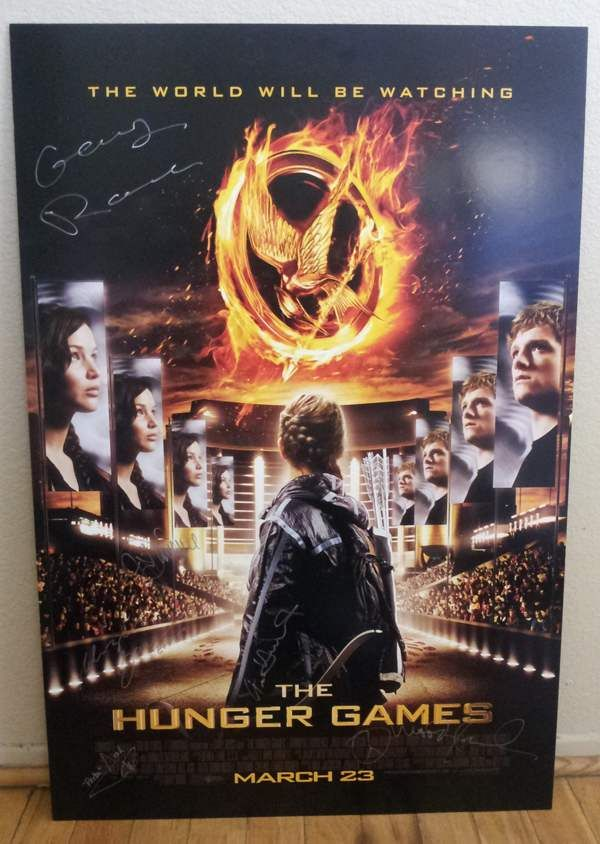 Want To Win This Signed Hunger Games Poster Repin This From Amc Theatres Pinterest Then Click The Photo Hunger Games Movies Hunger Games Hunger Games Poster