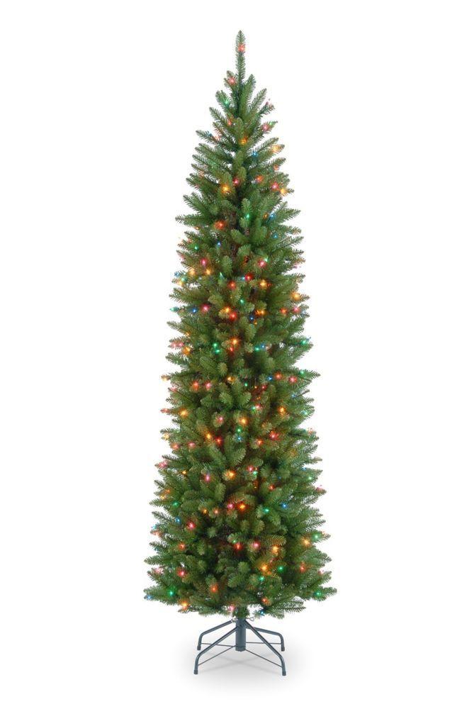 National Tree 7 12' Kingswood Fir Pencil Hinged 350 Multi
