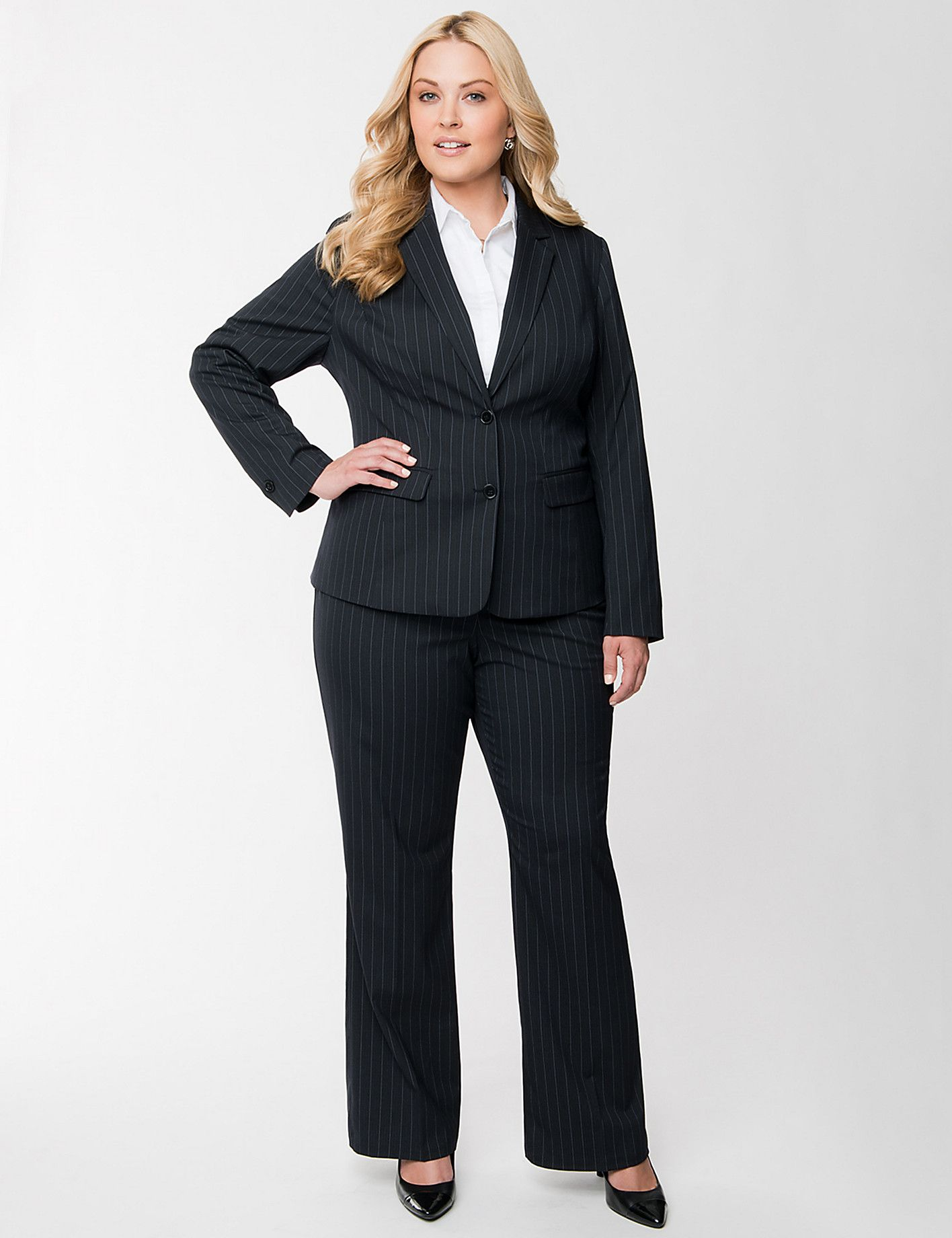 Suits-Pant-For-Plus-Size-Women  Formal Wear  Business -2571