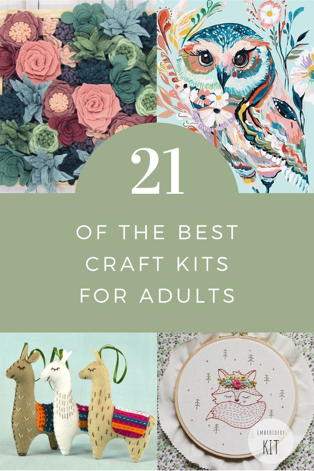 21 Of The Best Craft Kits For Adults In 2020 Arts And Crafts Kits Craft Kits Craft Kits For Kids