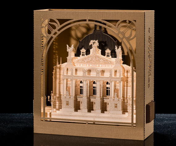 3d Pop Up Card Architectural Model Lviv Opera Ballet House Ukraine Ballet Invitation Card