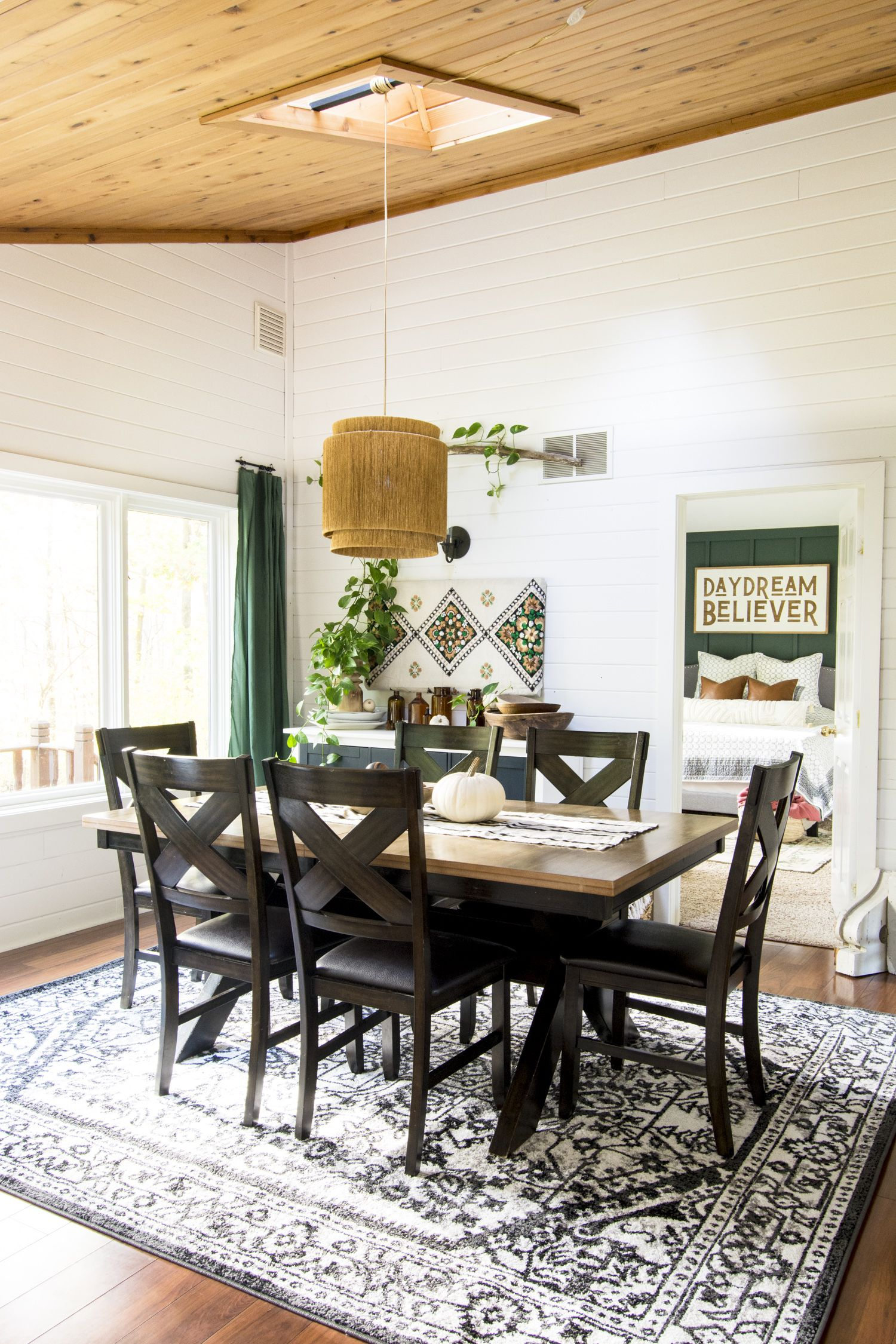 Modern Farmhouse Dining Room Makeover 2 Days 290 Dollars