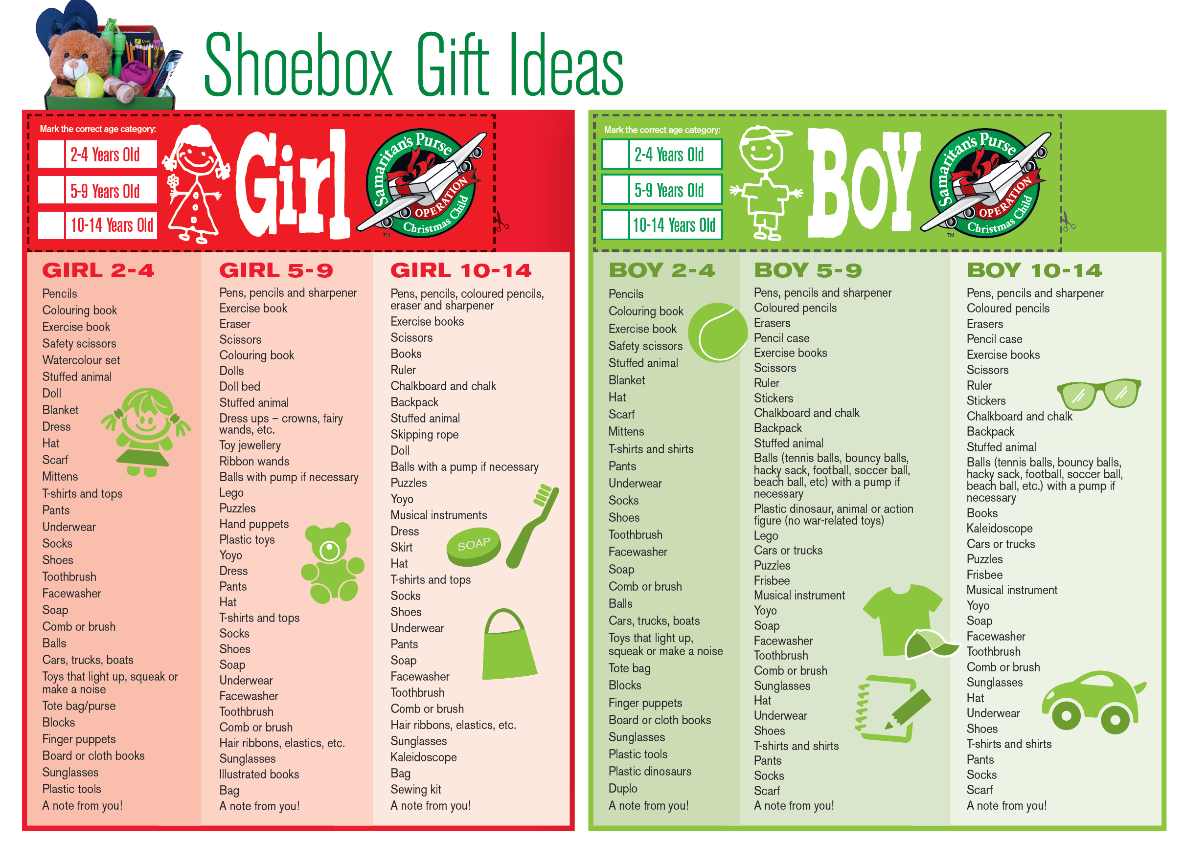 When Are Operation Christmas Boxes Due 2020 Operation Christmas Child Gift Ideas | Samaritans Purse Austral