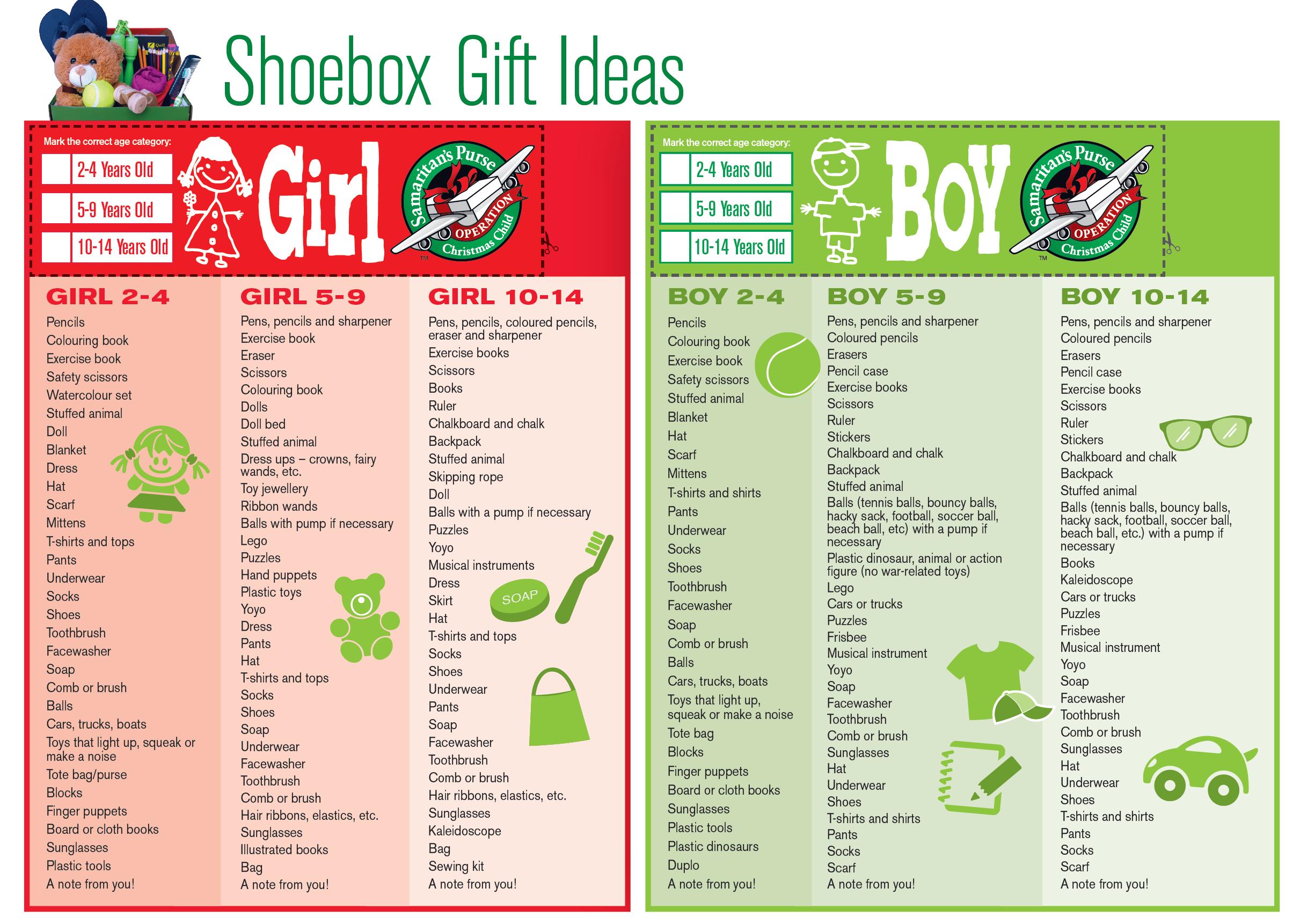 Operation Christmas Child Gift Ideas Samaritans Purse Austral Operation Christmas Child Shoebox Operation Christmas Child Boxes Christmas Child Shoebox Ideas