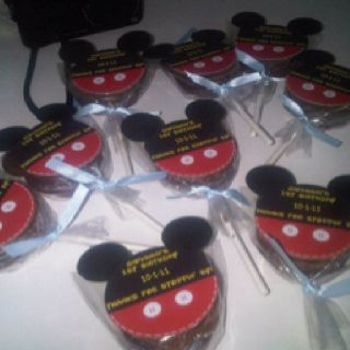 DIY Mickey MInnie Mouse Ears Oreo Lollipop Cookie Labels