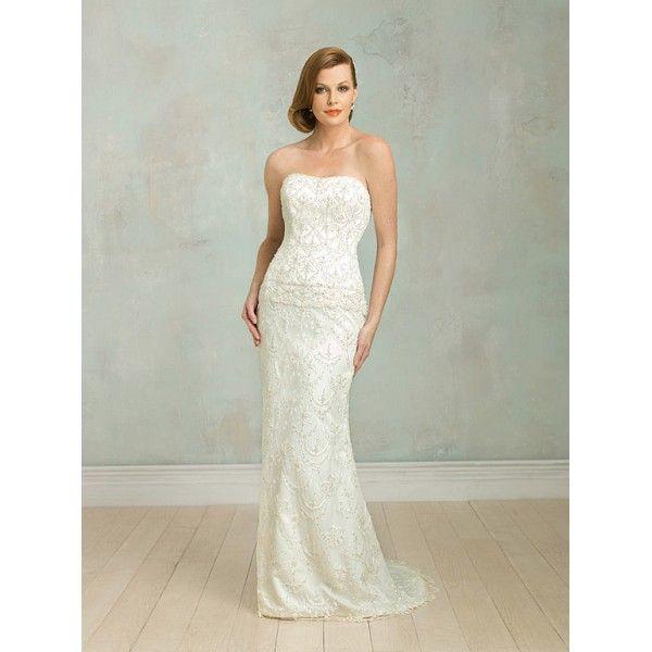 Ivory Scoop Beaded Sheath Vintage lace Wedding Dresses - Star Bridal ...