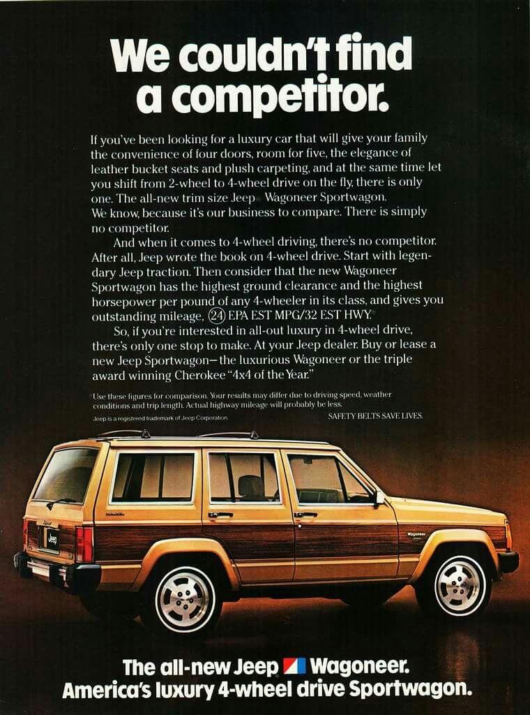 Pin By Keith F On Car Brochures Jeep Wagoneer Jeep Xj Jeep Cherokee