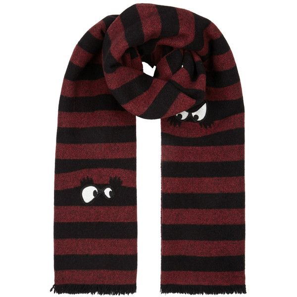 Embroidered wool scarf Alexander McQueen rE5AsV