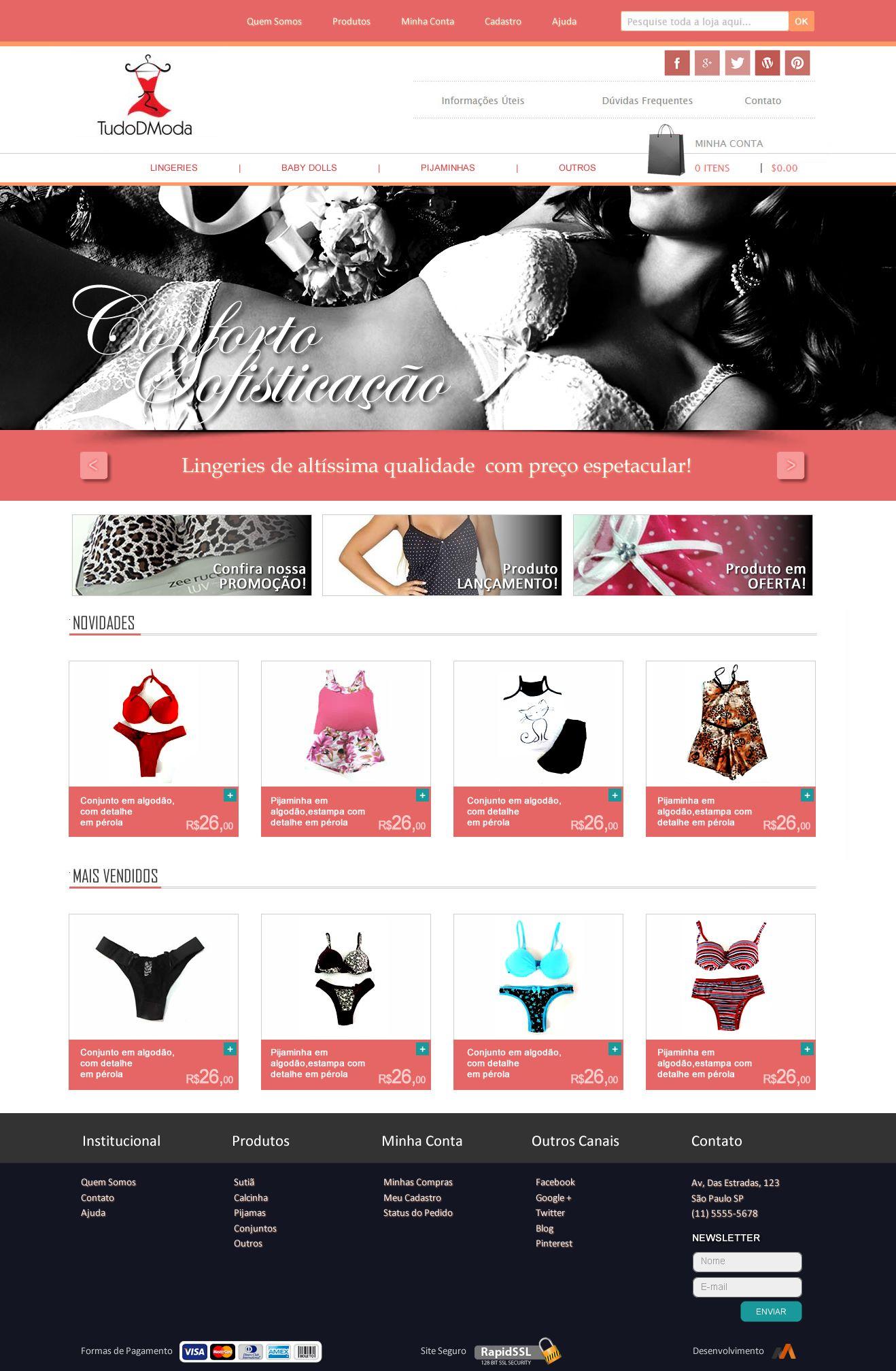 Layout Conceito - E-commerce Tudo D Moda