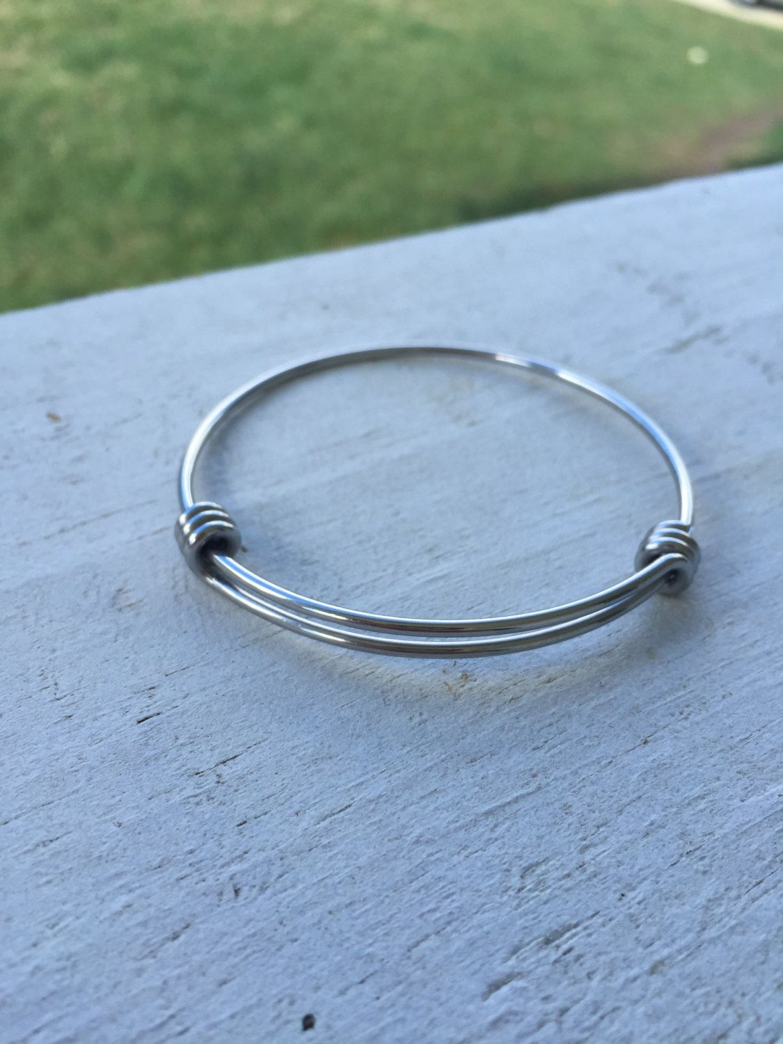 BULK PICK QUANTITY Stainless Expandable Bangles - Stainless Steel Bracelet - 60mm diameter - 1.8 mm wire - Adjustable - Wholesale - (#36) (3.49 USD) by BeCharmed101