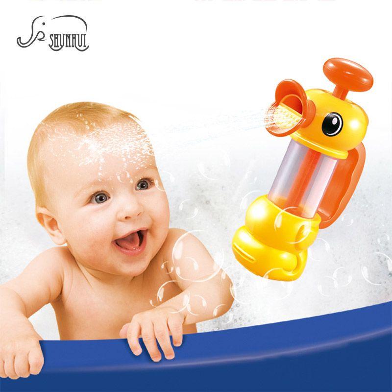 Cute Duck Pumper Baby Bath Shower Toys Bathtub Swimming Pool