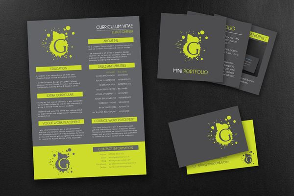 Self Promotion Brief by Elliot Garner, via Behance