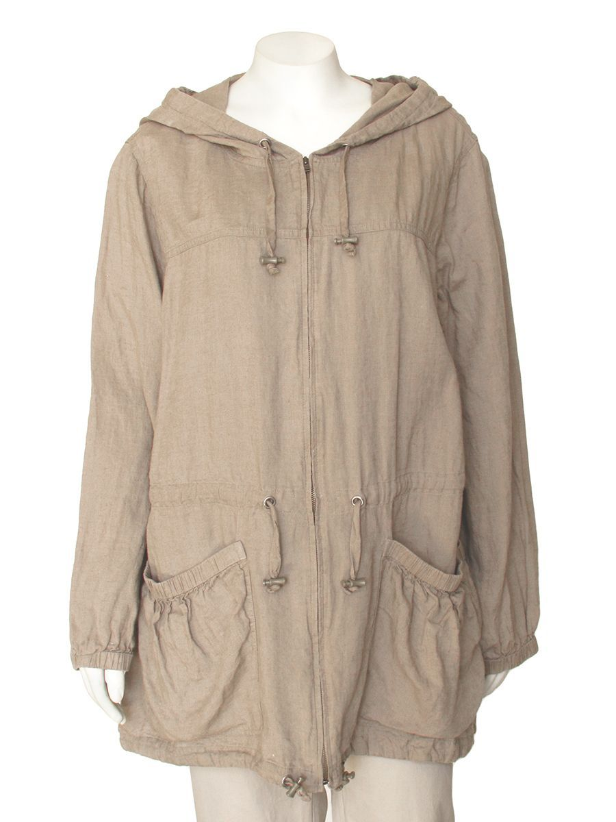 Eileen Fisher Natural Irish Linen Hooded Jacket Consignment Clothing Designer Outfits Woman Eileen Fisher [ 1200 x 900 Pixel ]