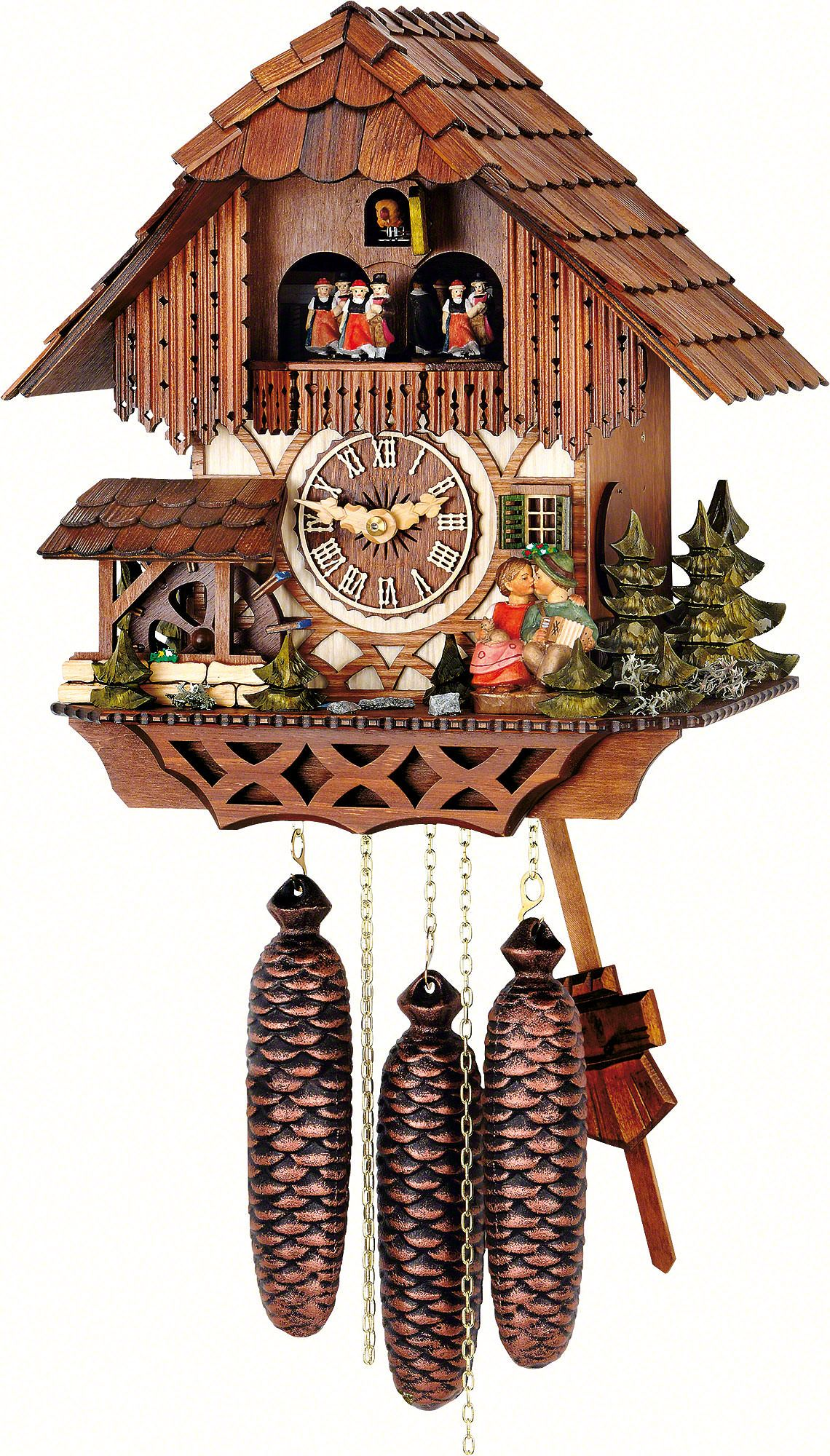 Chalet Cuckoo Clocks Cuckoo Clock 8-day-movement Chalet-Style 32cm by Hubert Herr