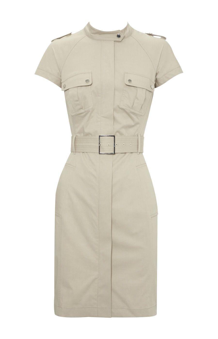 824ecf3f99b2 Karen Millen Tailored Safari Dress Stone