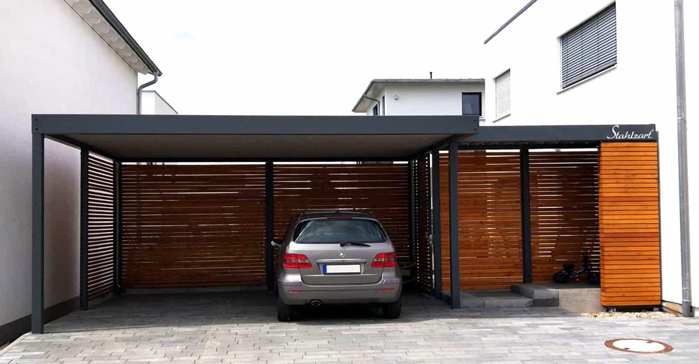 Carport Metall Hauseingang Paris Modern Doppelcarport Stahlzart Stahlcarport Carport Metall Doppelcarport
