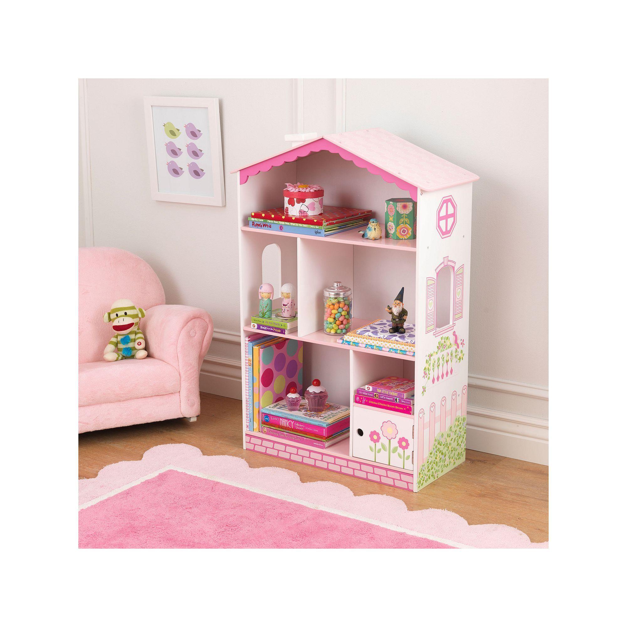 Kidkraft Dollhouse Cottage Bookcase Multicolor Cute Furniture Storage Nursery