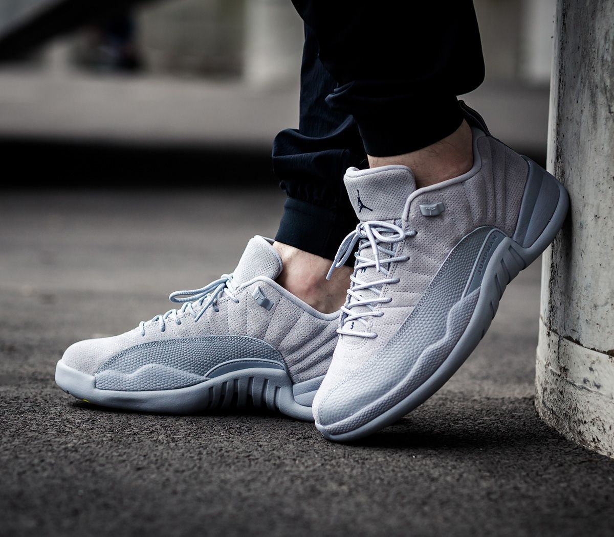 1dc05f2353b1 On-Foot  Air Jordan 12 Retro Low Wolf Grey Armory Navy Electric Lime - EU  Kicks  Sneaker Magazine