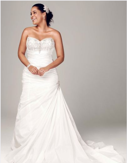 Strapless Sweetheart Trumpet Wedding Gown, David\'s Bridal ...