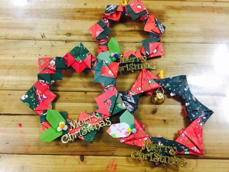 종이접기 크리스마스 리스 만들기 네이버 블로그 크리스마스 리스 크리스마스 리스