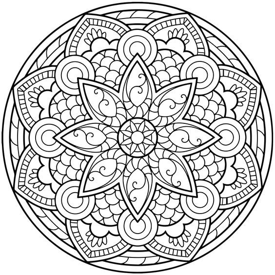mandala coloring pages for adults for android  ios and