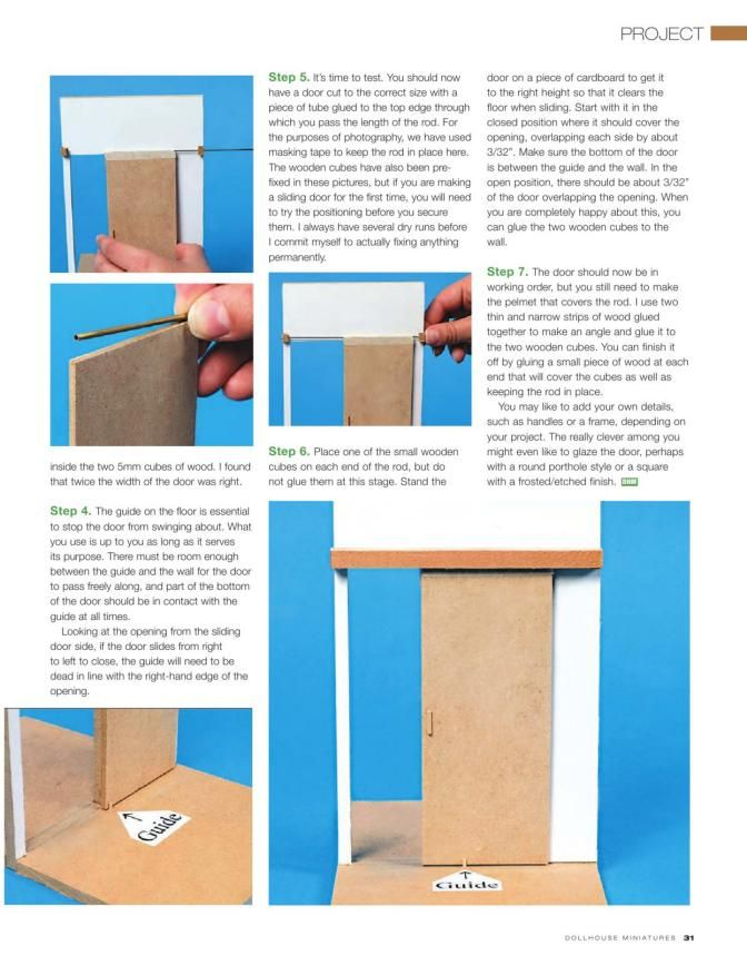 how to make miniature door hinges