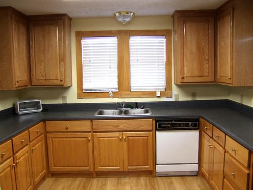 red oak kitchen cabinets - Google Search | Dark or Light wood ...