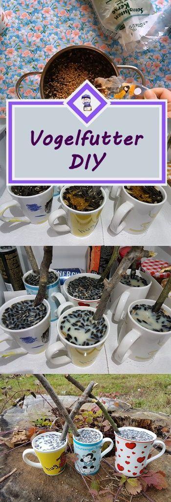 Vogefutter in Tassen selber machen. Einfaches und schnelles DIY