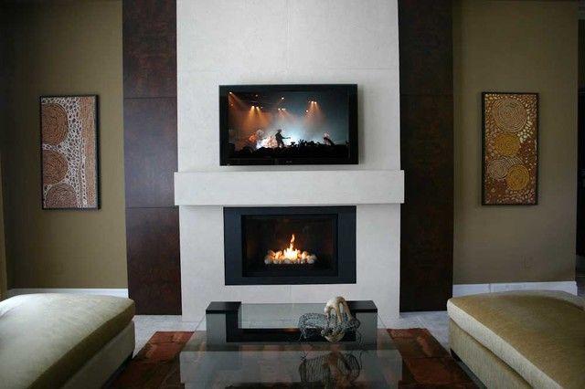 Custom Lightweight Concrete Fireplace Surround   Contemporary   Fireplaces    By Dekko Concrete Decor