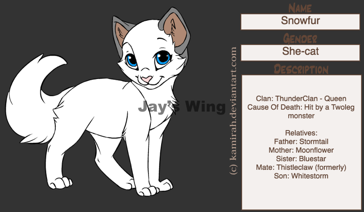 Snowfur Warrior cats, Warrior cat, Bird mates