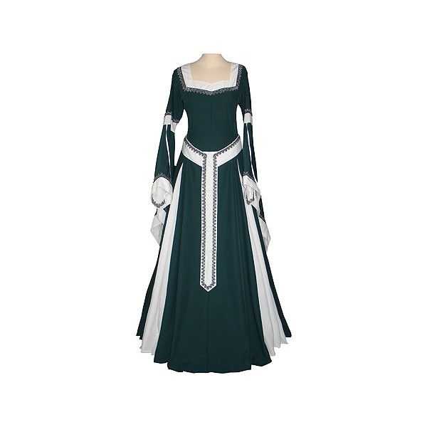 dornbluth.de - mittelalterliche gewandungen (€220) ❤ liked on Polyvore featuring dresses, medieval, medieval dresses, costumes and gowns