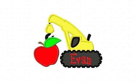 SANDBOX SERIES School Apple Construction Crane by