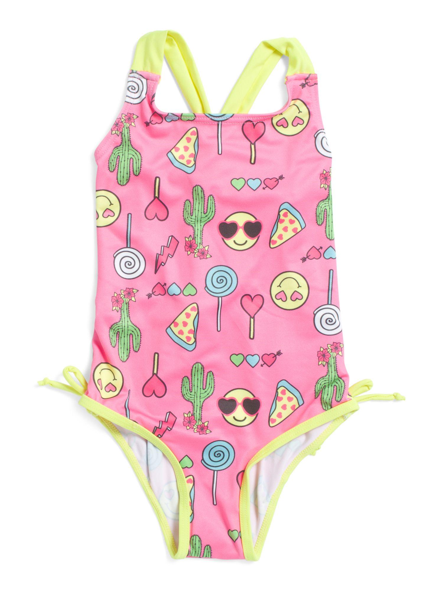 2728c71e86fb7 high resolution image Girl Emoji, Girls 4, Little Girls, Polyester Spandex,  Toddler