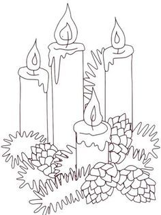 ornament coloring pages candle stick - photo#26