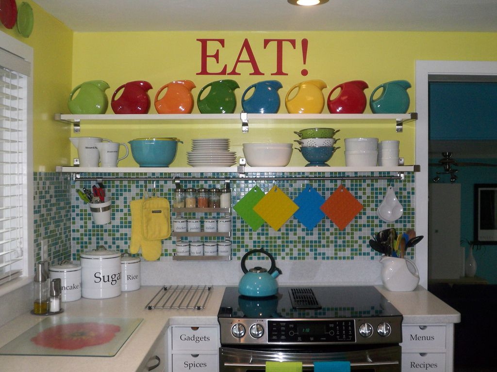 Pin By Holly Mason On Fiestaware Kitschy Kitchen Ikea Kitchen Kitchen Decor